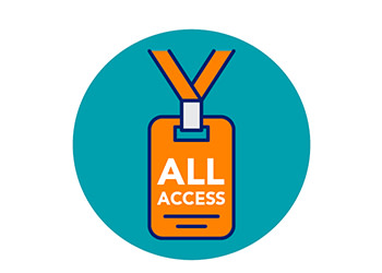All access pass icon