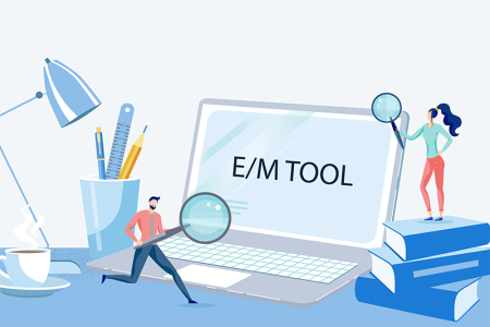 Card illustration for E/M coding tool