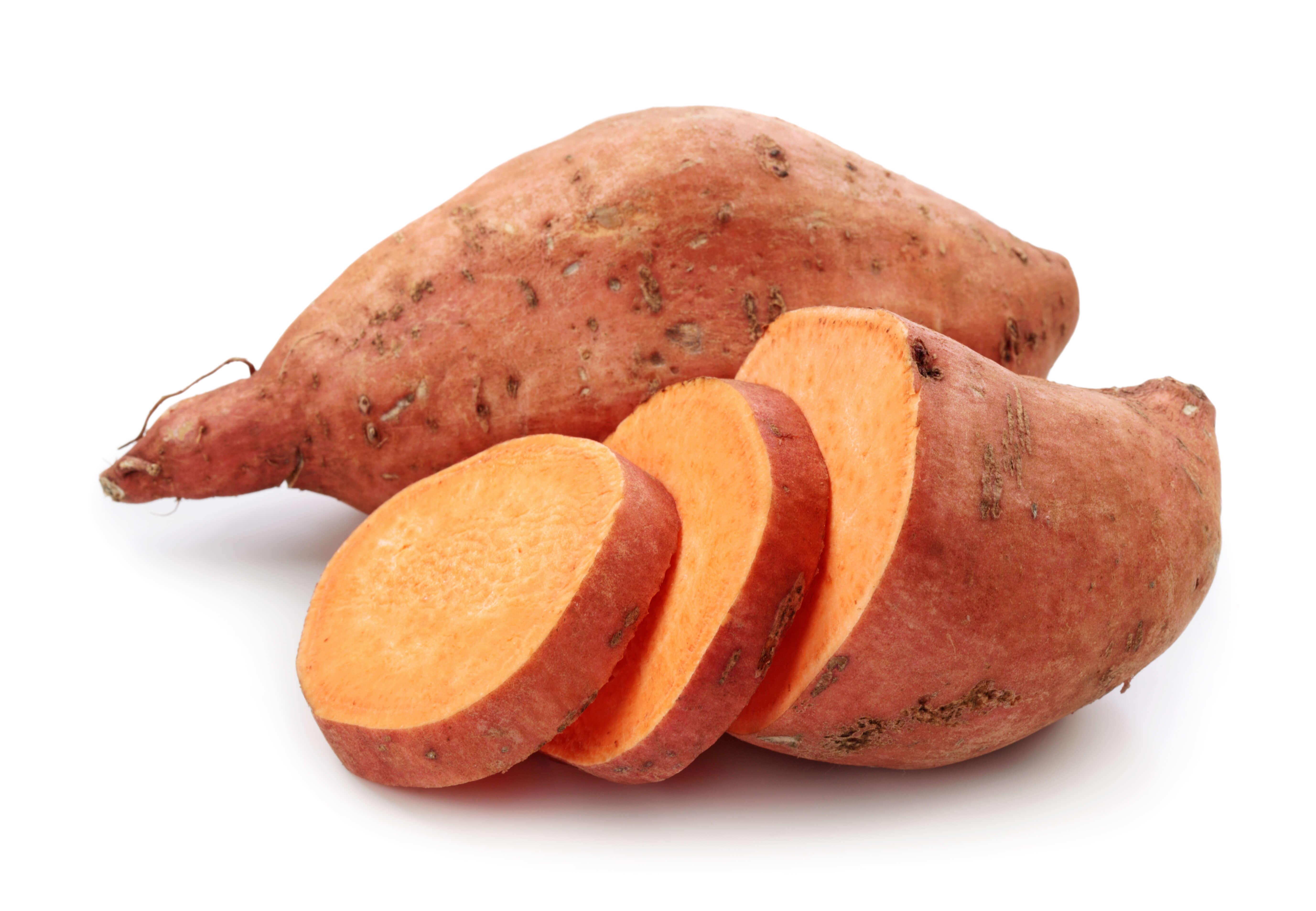 sweet potato slices