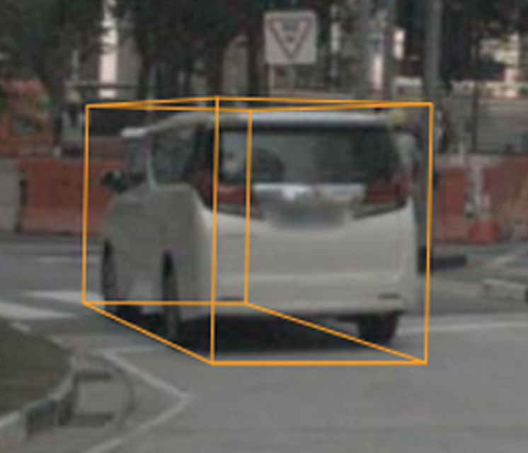 A vehicle annotated from video-only