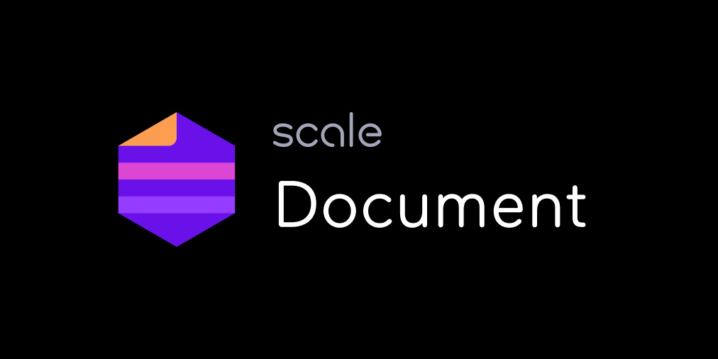Now Available: Scale Document cover