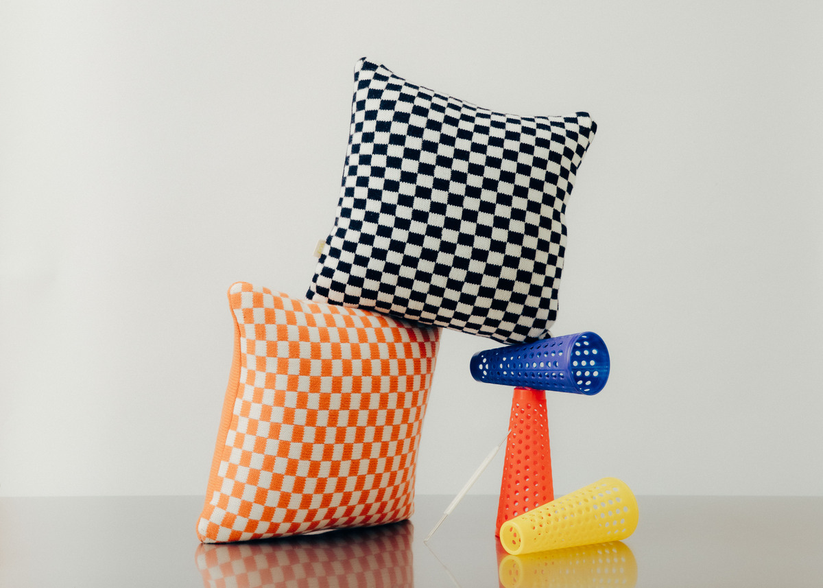 Goods of May checkerboard cushions. Photography: www.mattbrann.com