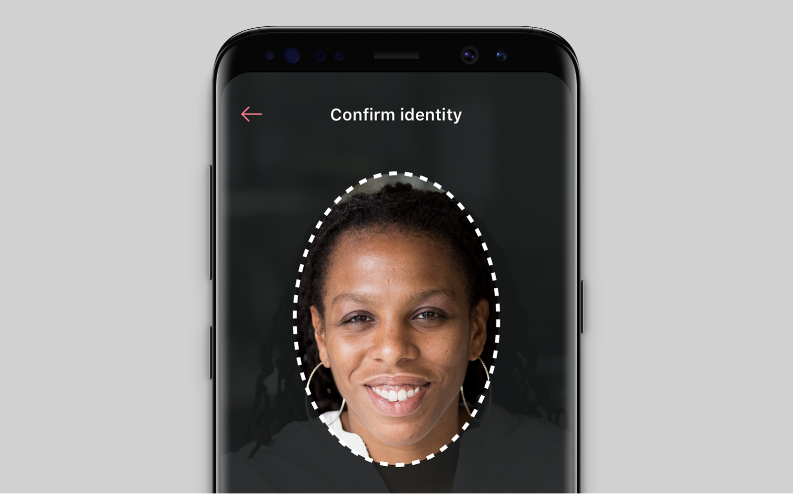 Face verification screen
