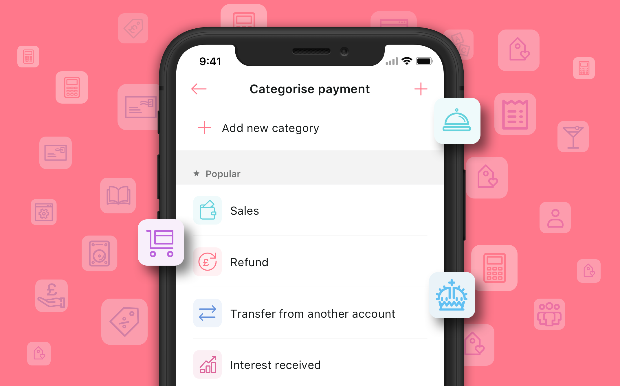 You can now add new payment categories