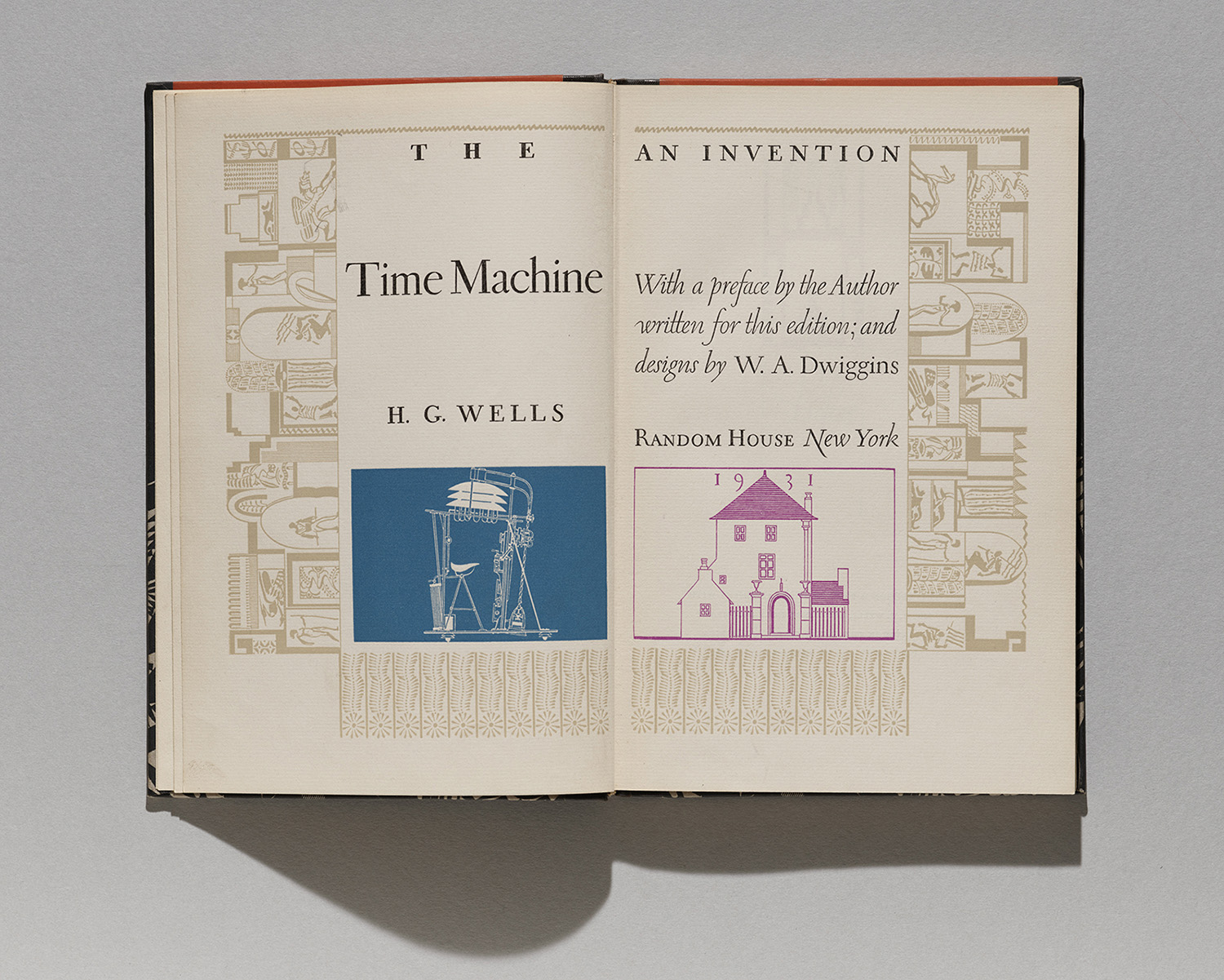 Title page from The Time Machine by H. G. Wells