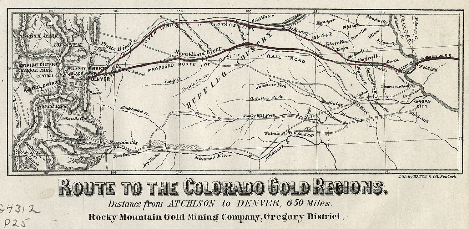 Colorado Gold Regions map