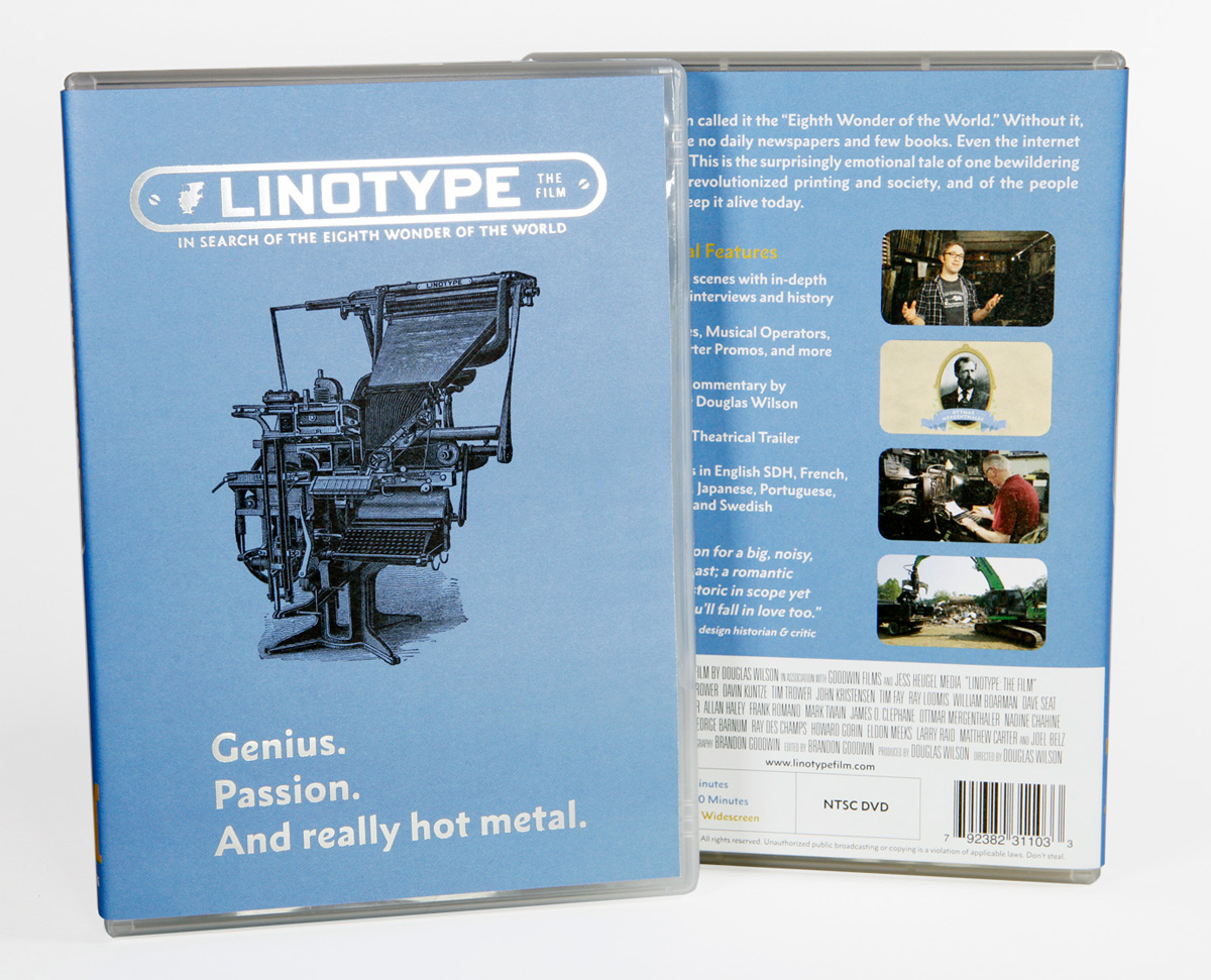 Linotype DVD packaging