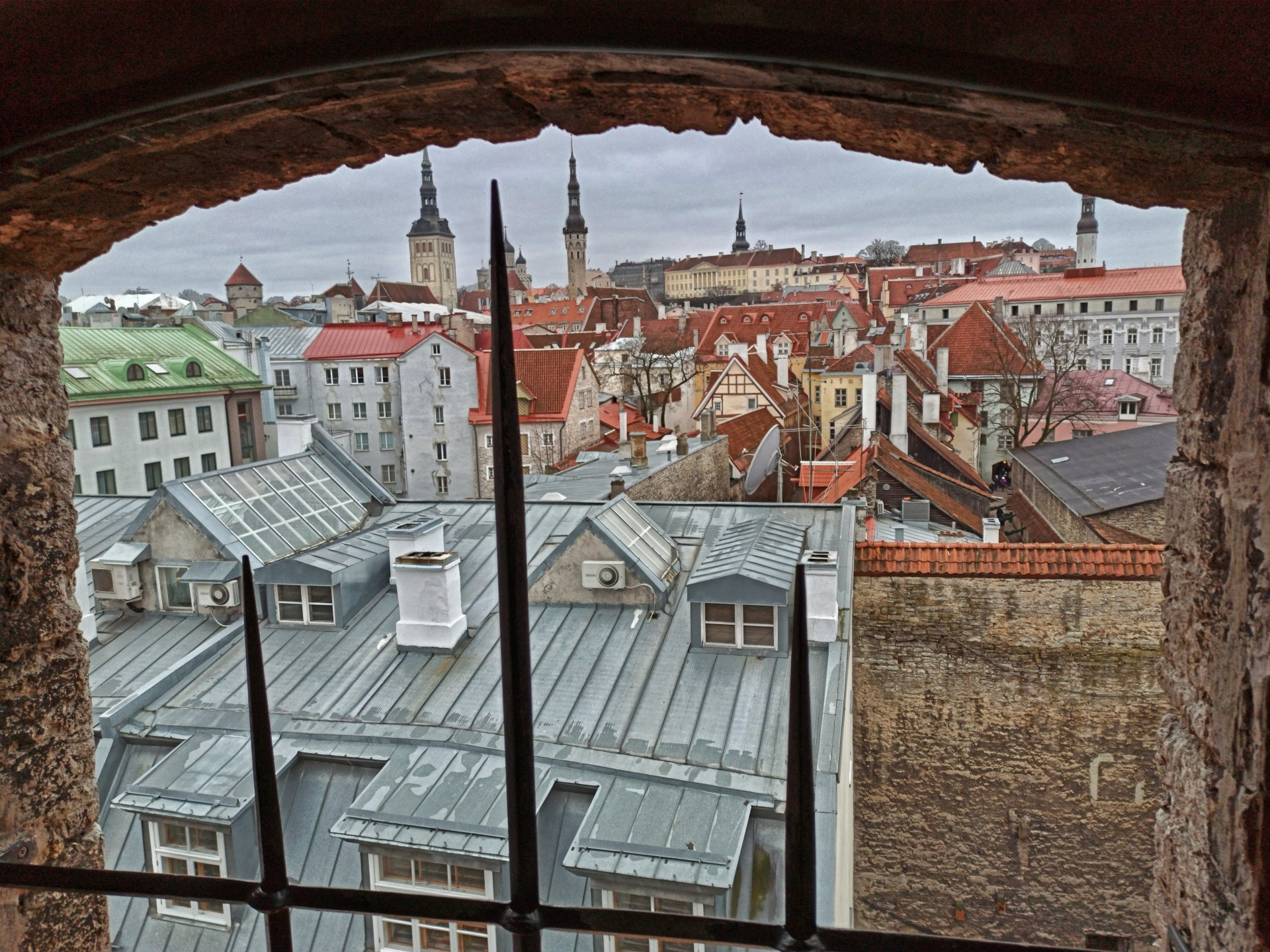 View to the roofs of Tallinn