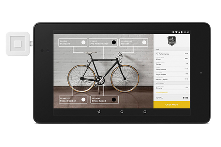 Customized bike shop app built with Android web-based POS