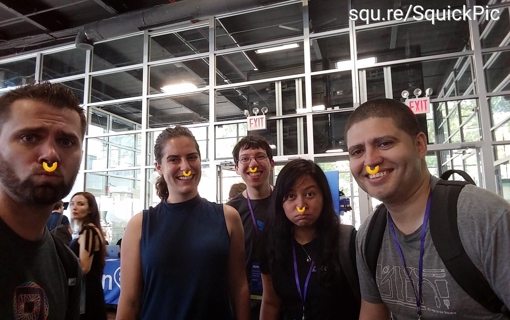 Android engineers Christina, Mike, Zarah and John joined me in sporting an Oreo Nose Ring