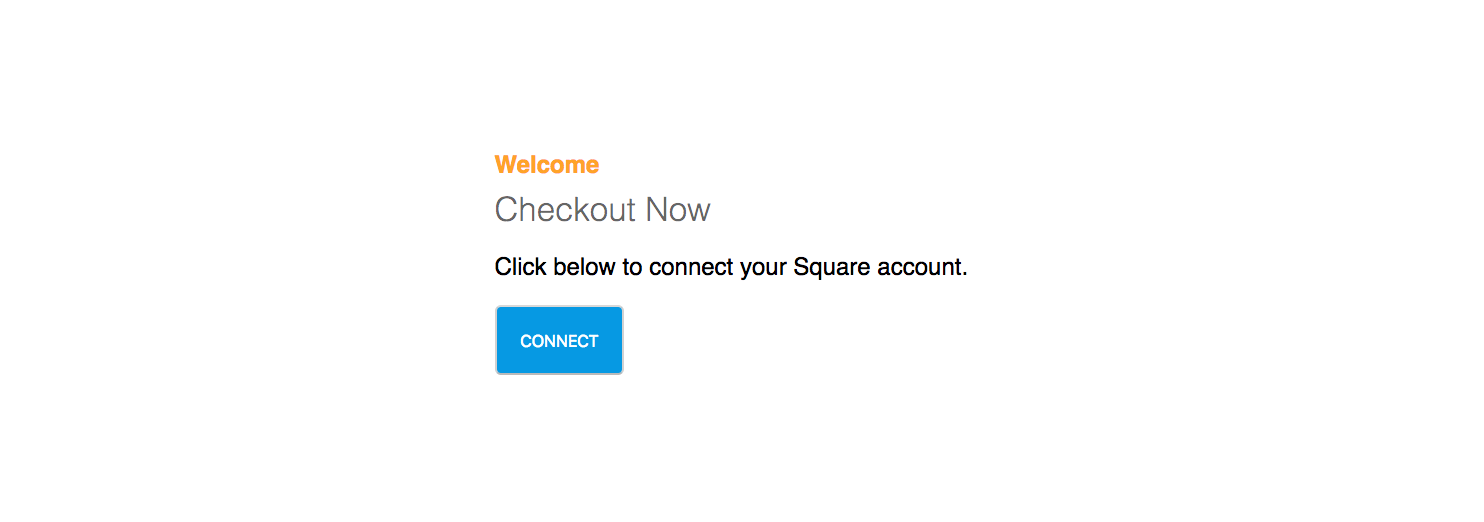 Warning! Clicking on this image will not actually connect your Square account.