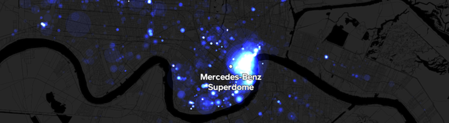 Mapping Square Payments During the Super Bowl