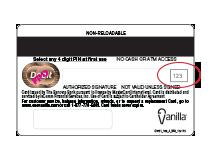 OneVanilla  Prepaid Card