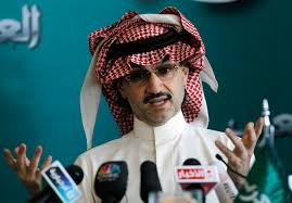 Saudi prince Alwaleed bin Talal arrested for money laundering.