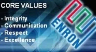 A quick business history lesson: The above-mentioned core values were those of Enron, one of the most corrupt corporations of the 21st century.