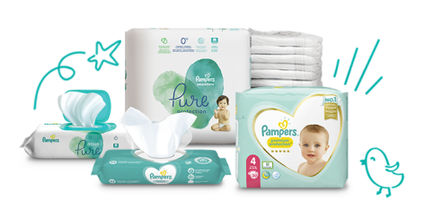 Pampers Windeln und Feuchttücher für Neugeborene
