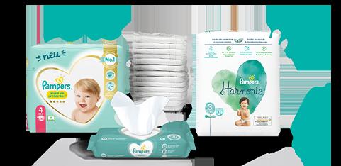 Pampers® Windeln und Feuchttücher