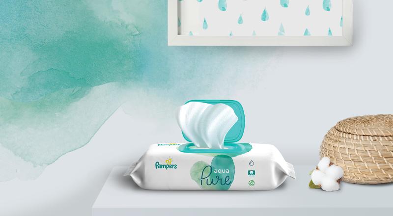 Pampers® Aqua Pure Feuchttücher