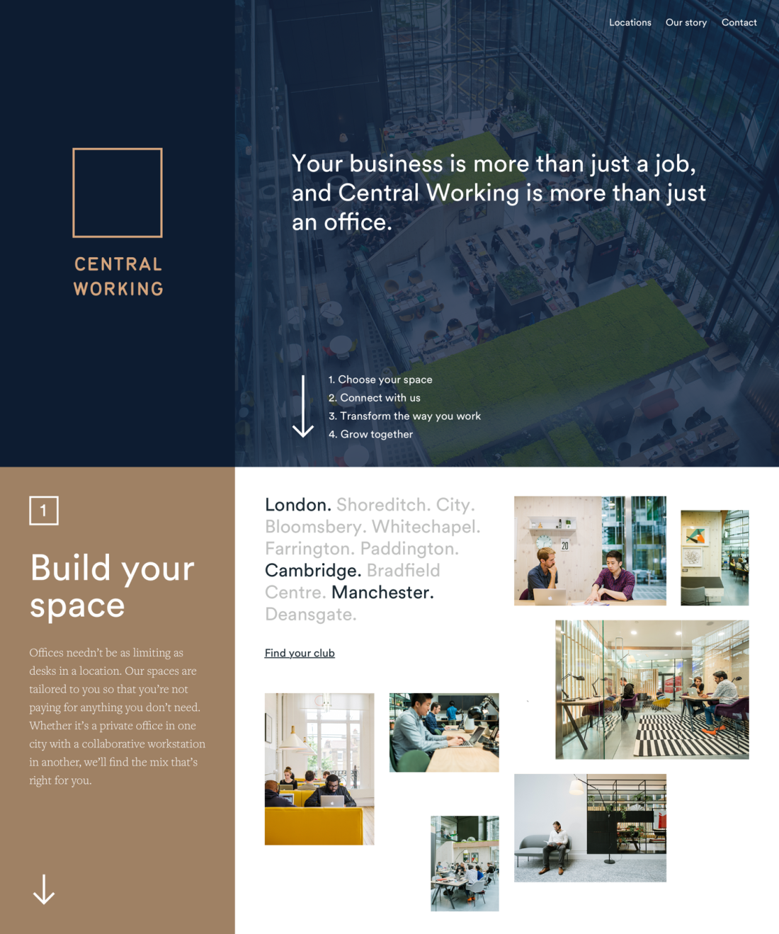 Central Working  Homepage