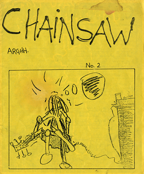 chainsaw zine #2 cover