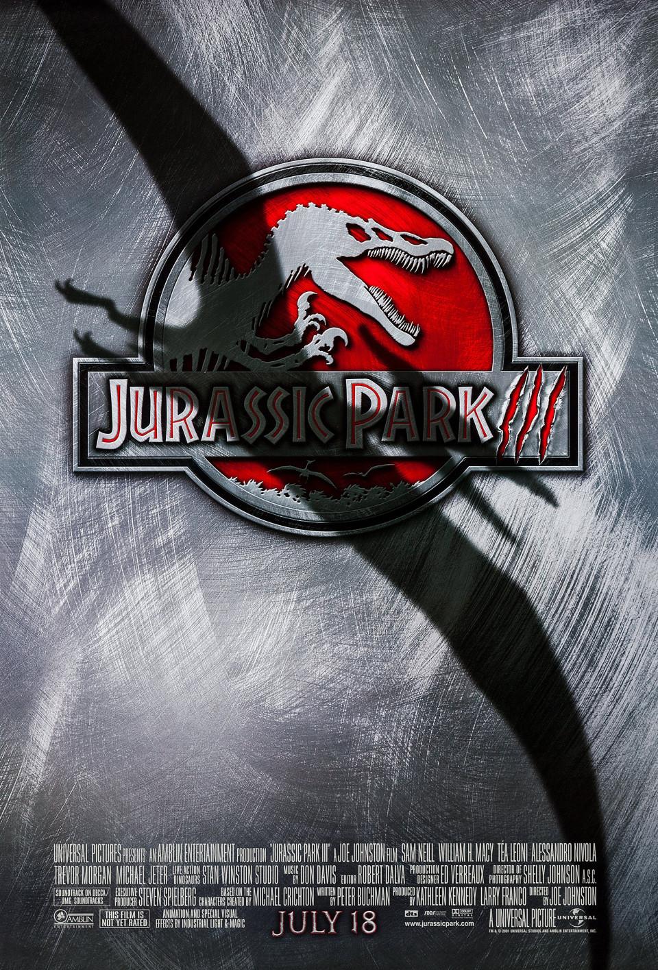 Jurassic Park III US Advance Poster 2001 Universal 27 X 40 Ha