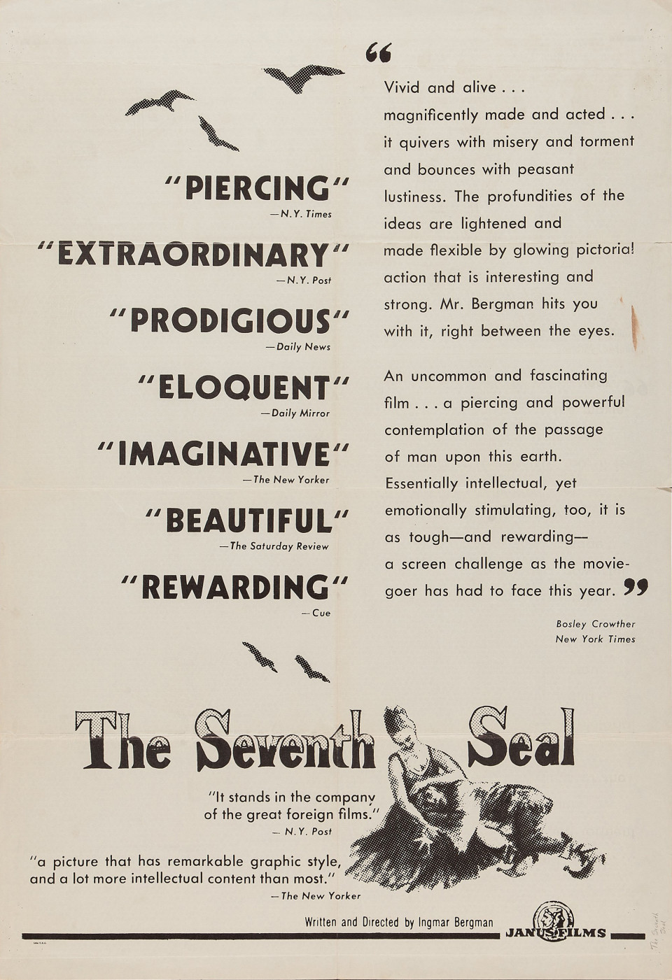 02-1958-Seventh Seal-one sheet