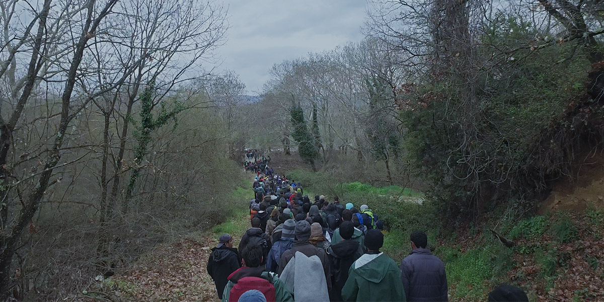 Human-Flow Still 2016 03 14 walking-Refugees near Idomeni-Camp Greece