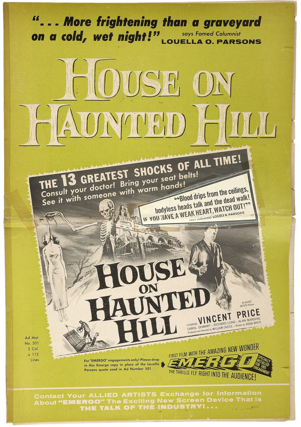 013b-001-1959-House on Haunted-pressbook-HA