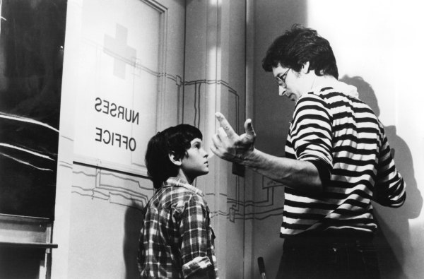 Henry Thomas and Steven Spielberg