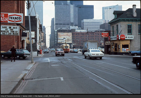 Looking east from King & John, late 1970s