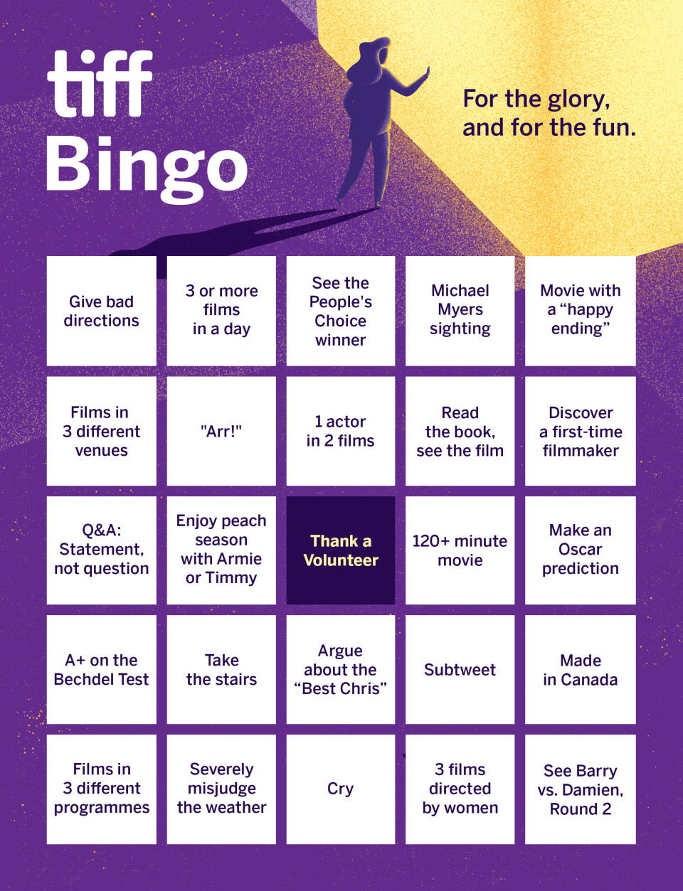 For The Glory And For The Fun It S Tiff Bingo