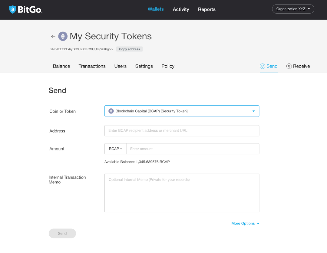 Formalizing BitGo's Support for Security Tokens 1
