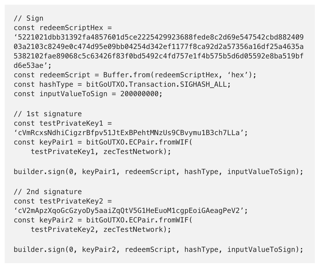 How to Create a Zcash Sapling-Compatible Multisig Transaction