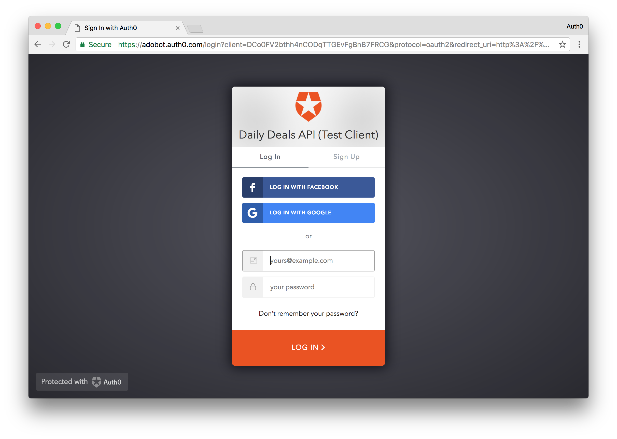 Auth0 Hosted Lock