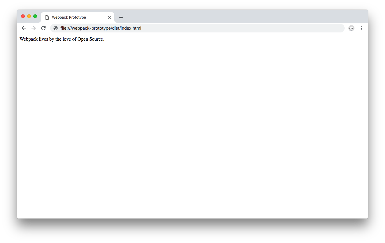 Webpack updated output being used to display data in the browser