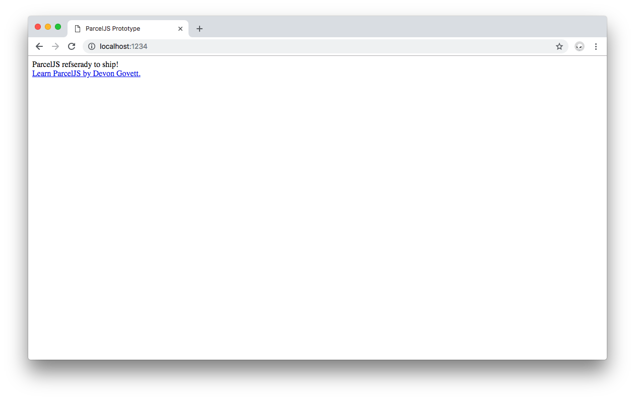 ParcelJS updated output on the browser.