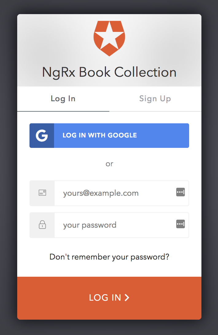 Our Auth0 login screen works!