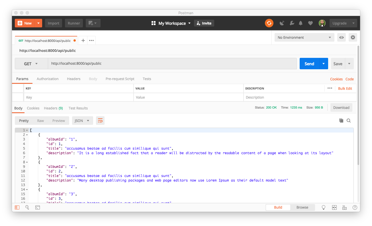 Using Postman to consume public Symfony endpoint