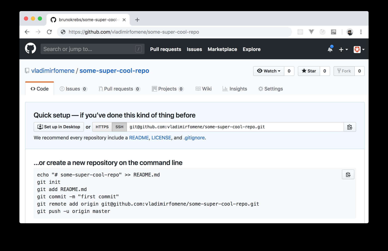 GitHub repo created through a Retrofit client