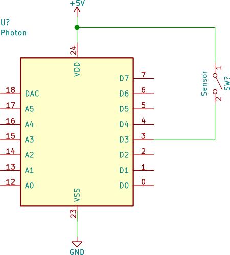 Motion sensor as a switch