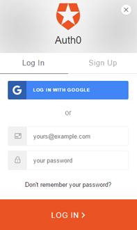 React quickstart login