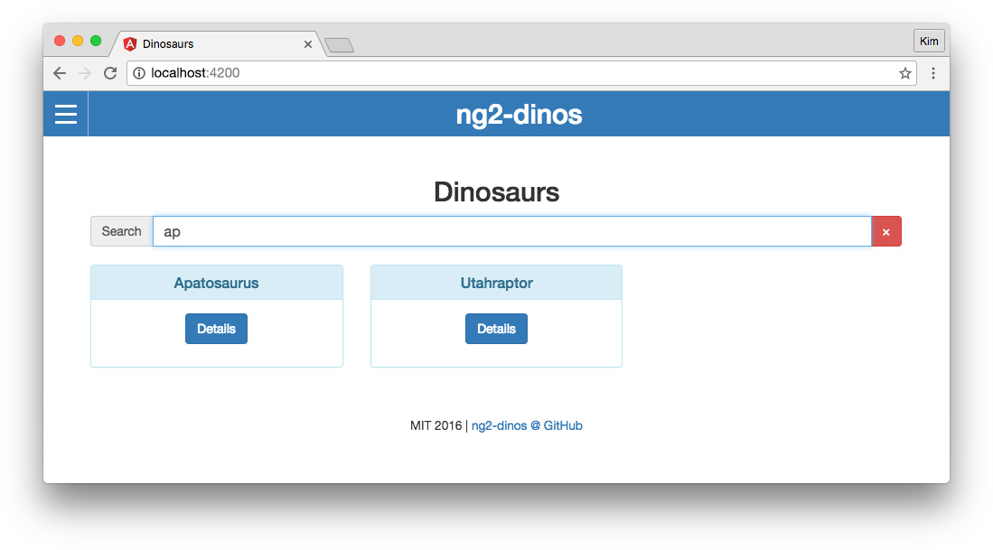 Migrating AngularJS app to Angular: Angular 2 app with search filtering