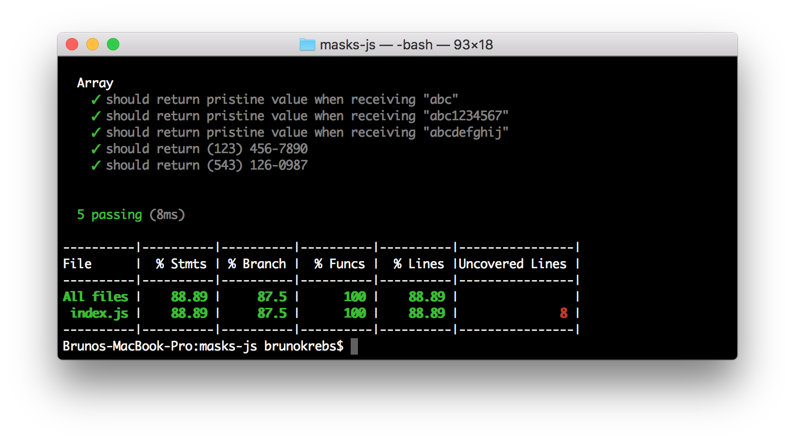 NPM Package Development: Test Coverage with Istanbul.