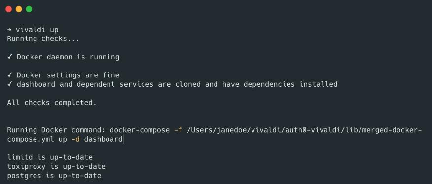 Vivaldi: Docker container-based development environment