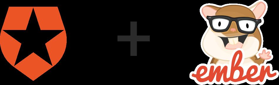 Auth0 + Ember logos