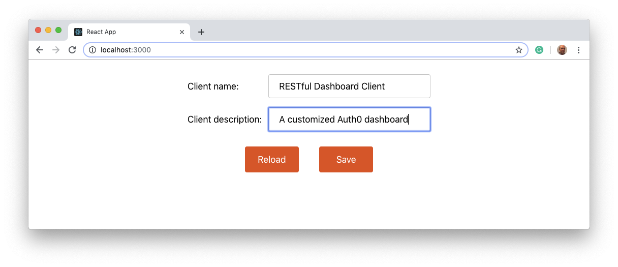 A customized Auth0 dashboard