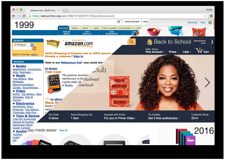 Amazon 1999 vs 2016