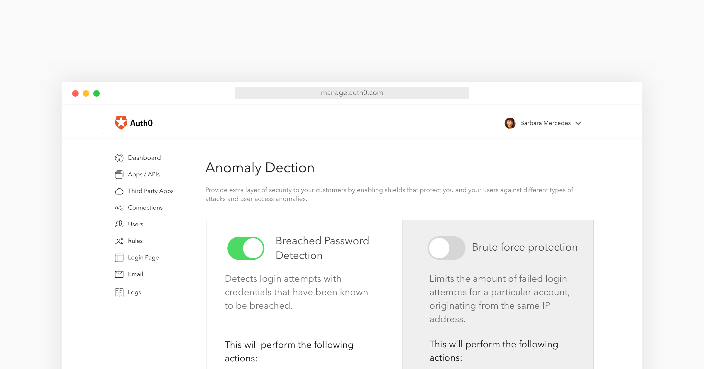Lock's password leak notification