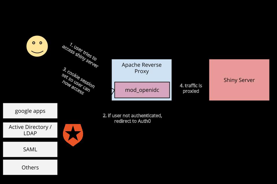 Diagram of the Shiny Authentication scheme