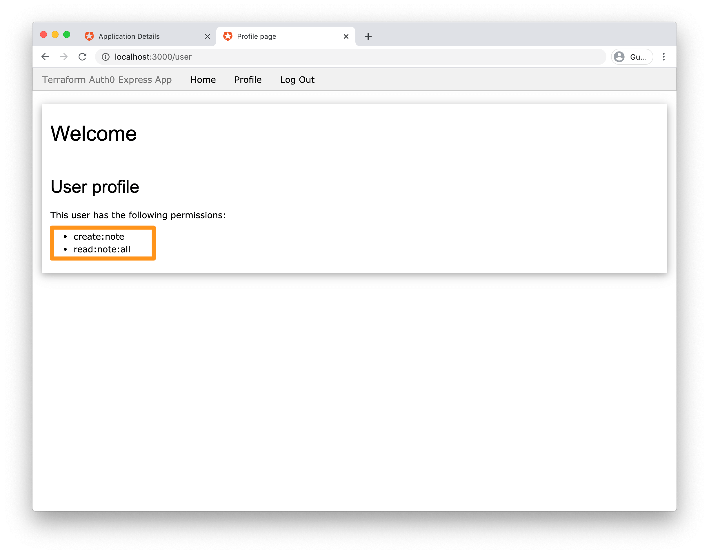 screenshot - admin permissions
